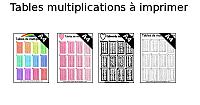 Tables multiplications à imprimer