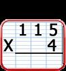 multiplication à 1 chiffre et retenue