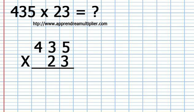 Multiplication en colonne avec retenues et 2 chiffres for Comment apprendre les multiplications