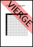 Table de multiplication de Pythagore vierge à imprimer